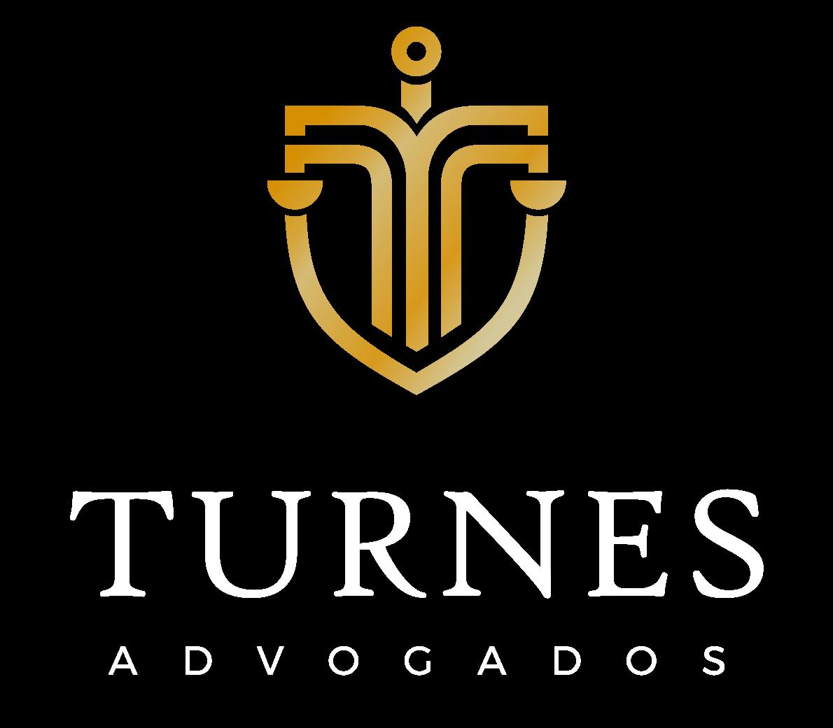 logo branco vertical no Turnes Advogados